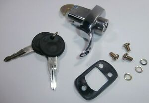 1967-1971 VW BUG 1967 BUS REAR DECK LID LOCK w/ Keys & Seal (3 Screw)