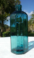 """TUMBLED - 1890'S ANTIQUE GOTHIC INSPIRED RUMFORD CHEMICAL WORKS BOTTLE!  7 1/2""""!"""
