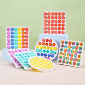 Popit Fidget Toy Push Bubble Sensory Stress Relief Kids Family Games Square Game
