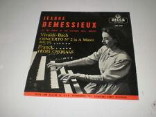 JEANNE DEMESSIEUX - VIVAL BACH CONCERTO N°2 - LP DECCA LXT 5185 FRANCE - EX+/VG+