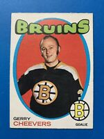 Gerry Cheevers 1971-72 O-Pee-Chee Hockey Card #54 Boston Bruins