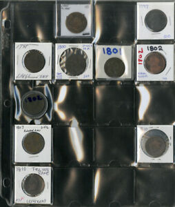 US Coin Old Time Collection Lot of 97 Large Cents NO RESERVE!