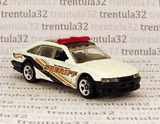HW County SHERIFF Police Cruiser Car white black gold 1:64 HOT WHEELS LOOSE