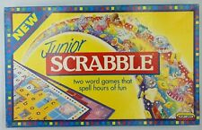 Vintage Scrable Junior with Scrable Dictionary | 1990s Board Game