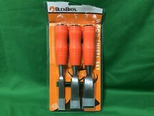 """Buck Bros 3 Piece Wood Chisel Set, 1/2""""~3/4""""~1"""", #40601- New In Open Package"""