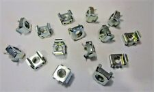 """5/16""""-18 Screw Size Square Type Cage Nuts Panel Range .093-.126 1/2"""" Hole (15)"""