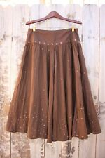 Laura Ashley Chocolate Brown Silky Sequin Skirt