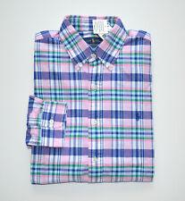 Men's Polo Ralph Lauren Casual Long-sleeve Oxford Shirt Pink Blue M Medium