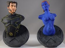 Marvel Xmen Wolverine and Mystique Mini Busts