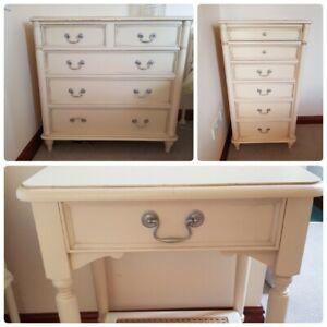 Laura Ashley Vintage Clifton Bedroom Furniture Drawers Tallboy & Bedside Table