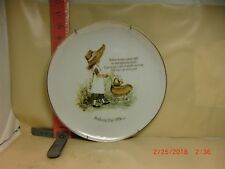 Holly Hobbie Mother'S Day , 1974 Plate - World Wide Art Studios -One Little Owie
