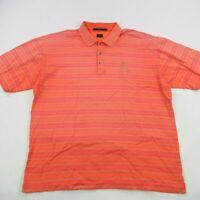 Tiger Woods Mens Golf Short Sleeve Polo Shirt Orange Large Scottsdale TPC