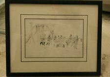 DESSIN SIGNE ENCRE DE CHINE DATE 1887 CUIRASSIERS A CHEVAL ARMEE FRANCAISE