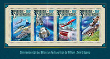Central African Rep 2016 MNH William Boeing 60th Mem 4v M/S Aviation Stamps
