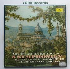 DG 2740 128 - MENDELSSOHN - 5 Symphonies KARAJAN BPO - Ex 4 LP Record Box Set