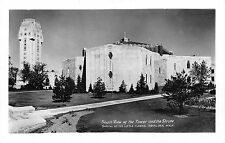 Postcard MI Royal Oak Shrine Of The Little Flower and Tower RPPC Michigan PC