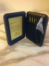 Blue Key holder box Mini Wallet  Driver's License photo Credit Cards