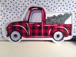 Country Truck Tree Melamine Cookie Snack Serving Tray **NEW**