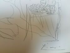 Pablo Picasso vintage lithograph Vollard Suite 1956 hand signed