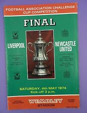 Liverpool v Newcastle United FA Cup Final Programme 1974