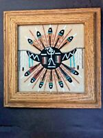 """Navajo Sand Art """"Creation of the Sun"""" Signed by Artist"""