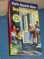 Boys Against Girls by Phyllis Reynolds Naylor FREE SHIPPING