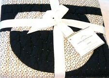 Pottery Barn Foundations Navy Circles Patchwork Euro Quilted Pillow Sham 26x26