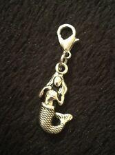 Bracciale SIRENA Ciondolo Clip Portachiavi Borsetta con zip Fiore Ariel MARE PESCI * D'AMORE Regno Unito *
