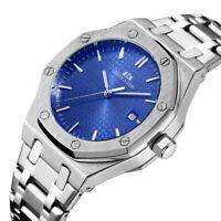 Automatic Mechanical Mens Wrist Watch Luxury Fashion Day Fashion Stainless Steel