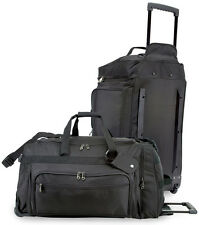 "GP Titan 28"" Black Lightweight Rolling Wheeled Large Big Travel/Sport Duffel Bag"