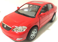 """Kinsmart 1:36 scale Toyota Corolla 5"""" diecast model car PULL BACK ACTION 5"""" Red"""
