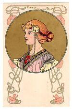 POSTCARD FRENCH ART NOUVEAU WOMAN FEMMES MODERNES DESIGN 2