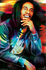 BOB MARLEY - ETCHED POSTER - 22x34 SHRINK WRAPPED - MUSIC REGGAE ART 2268