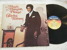 CHARLES BROWN Music Maestro Please LP 1978 Big Town BT-1005 VG++ R&B