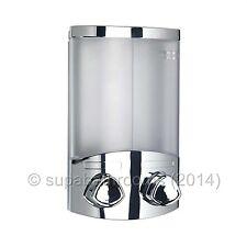 Croydex Euro Duo Chrome Wall Mounted Double Soap Dispenser
