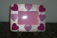New Unique Handmade 6X8 Picture Photo Memory Frame with Easel Hearts + Bonus