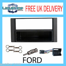 FP-07-09 FORD FOCUS 2003-2011 BLACK SINGLE or DOUBLE DIN FASCIA FITTING KIT MK11