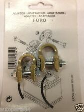 Car Battery Terminal Post Adapters Fits Ford ...Pair...Converts Square to Round