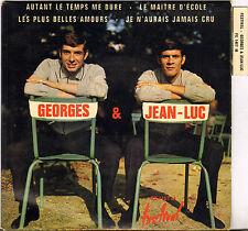 """GEORGES & JEAN LUC """"AUTANT LE TEMPS ME DURE"""" 60'S EP"""