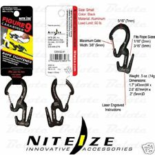 Nite Ize Black Figure 9 Rope Tightener w/ Carabiner C9S