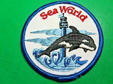 """VINTAGE SEA WORLD ORCA WHALE 3"""" PATCH (CM7)"""