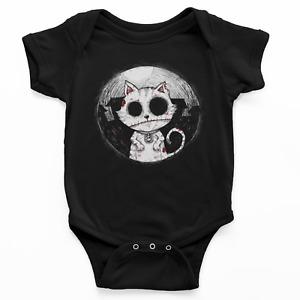 Kids Baby Grow Suit Zombie Cat gothic rock burton kitty alternative punk