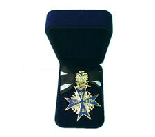 WWI GERMAN ARMY BLUE MAX MEDAL MILITARY BADGE WITH RIBBON GIFT BOX