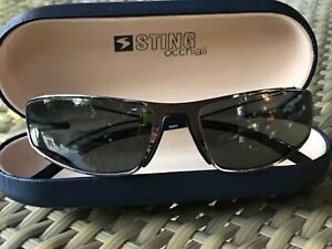 Rare Vintage STING occhiali Sunglasses SS4584M COL568V Made in Italy Metal Frame