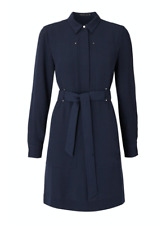 BNWT AUTHENTIC KAREN MILLEN NAVY  MILITARY  DRESS SIZE 14