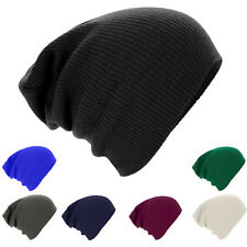 Men Womens Fashion Knit Baggy Beanie Oversize Winter Hat Ski Slouchy Chic Cap SU