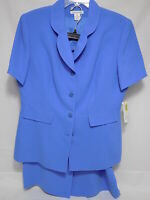Preston & York BLUE POLY SKIRT and JACKET Blue Size 14 NEW w/ Tags
