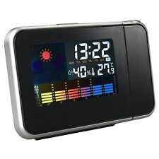 Digital Weather Temperature Humidity Wall Projection Snooze Alarm Clock LED SH