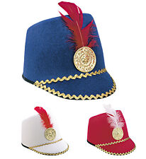 MAJORETTE HAT - CHILD SIZE - RED WHITE OR BLUE