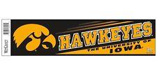 Iowa Hawkeyes Yellow Bumper Sticker